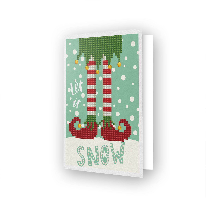 Diamond Dotz Diamond Art Greeting Card Kit - Let It Snow