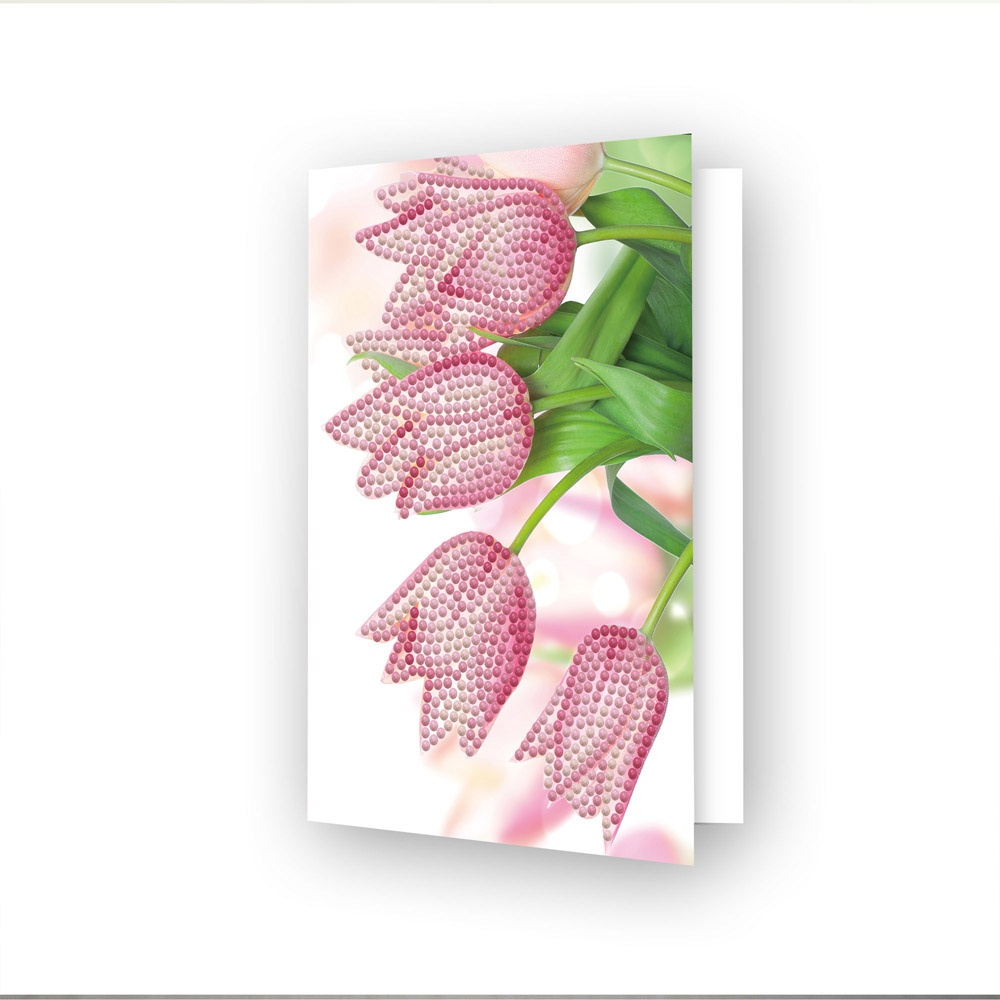 Diamond Dotz Diamond Art Greeting Card Kit - Romantic Tulips