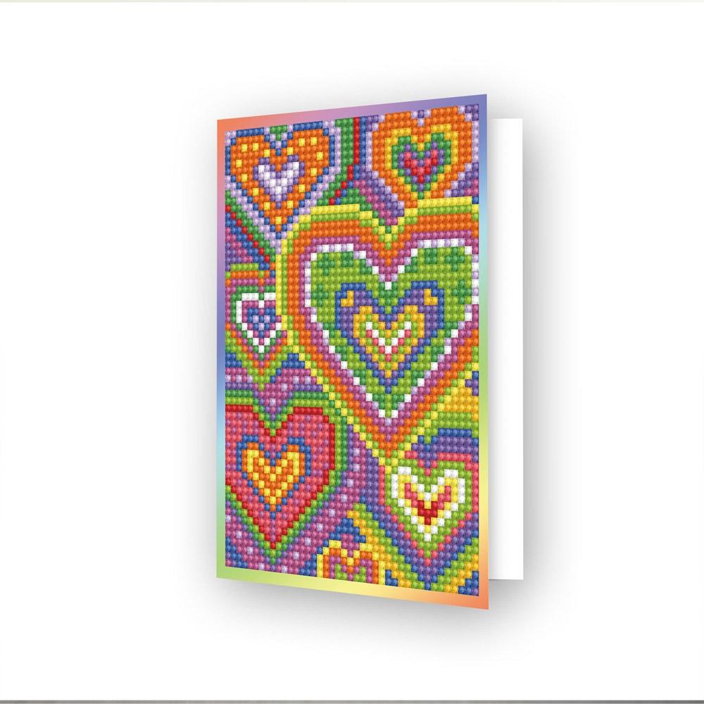 Diamond Dotz Diamond Art Greeting Card Kit - Heart Mosaic