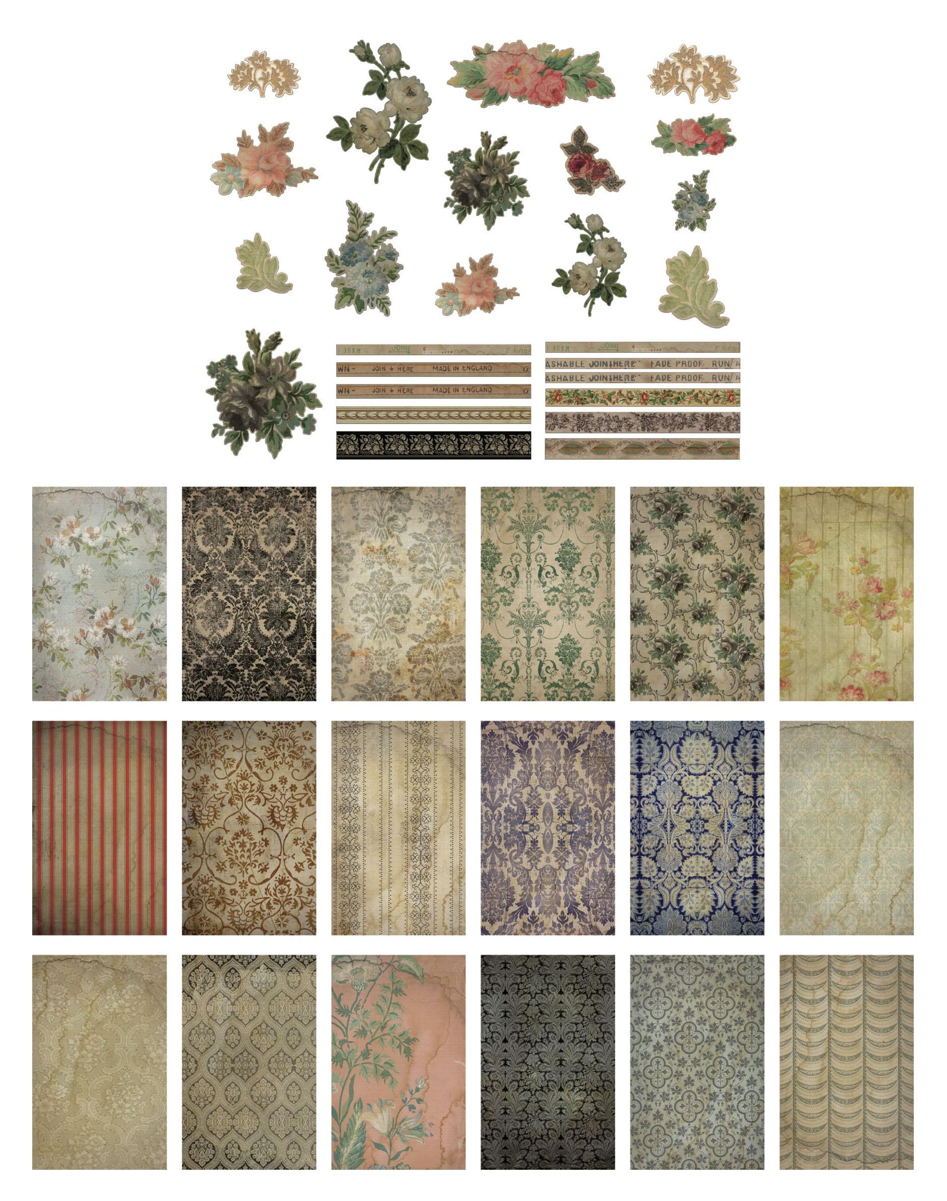 Idea-Ology Worn Wallpaper Scraps 44/Pkg-Halloween
