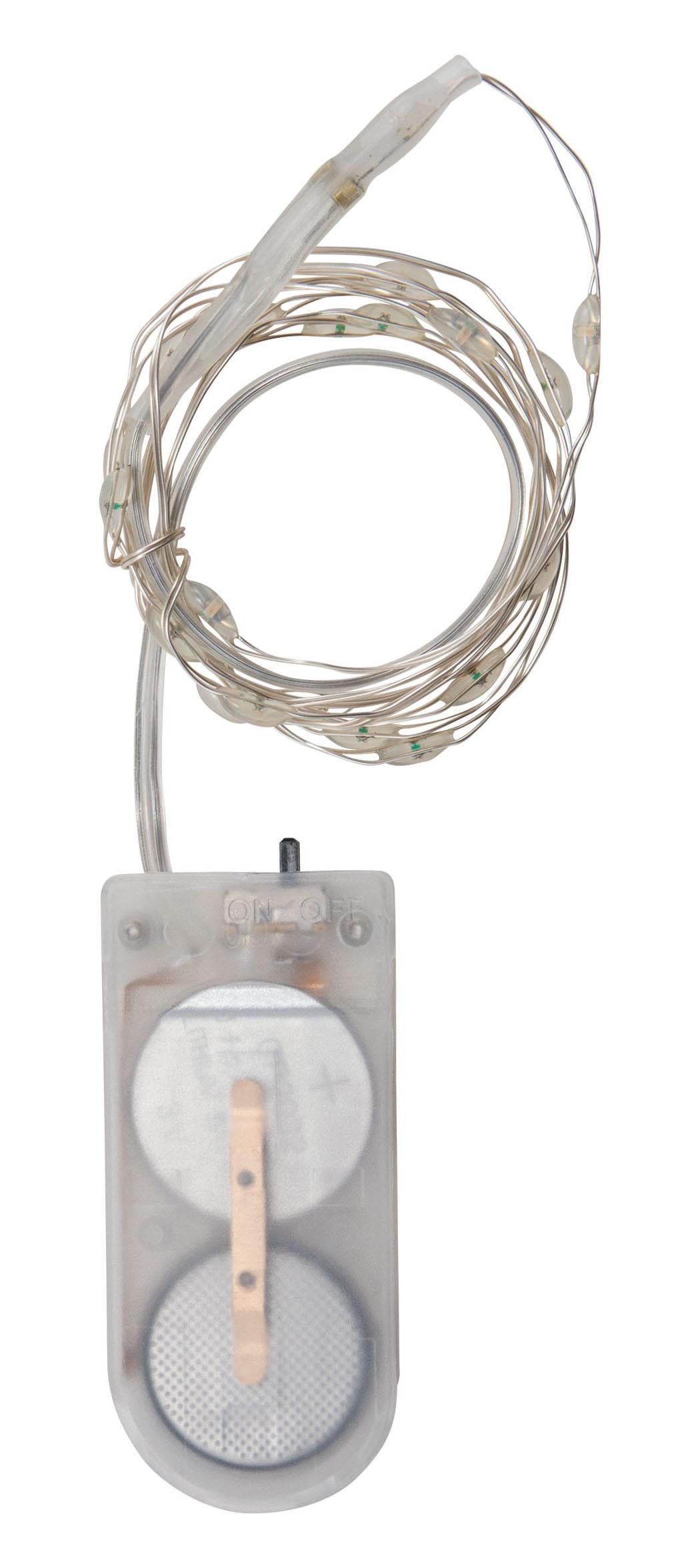 Idea-Ology Battery Operated Wire Light Strands 2/Pkg-Halloween Tiny Lights- Purple & Green