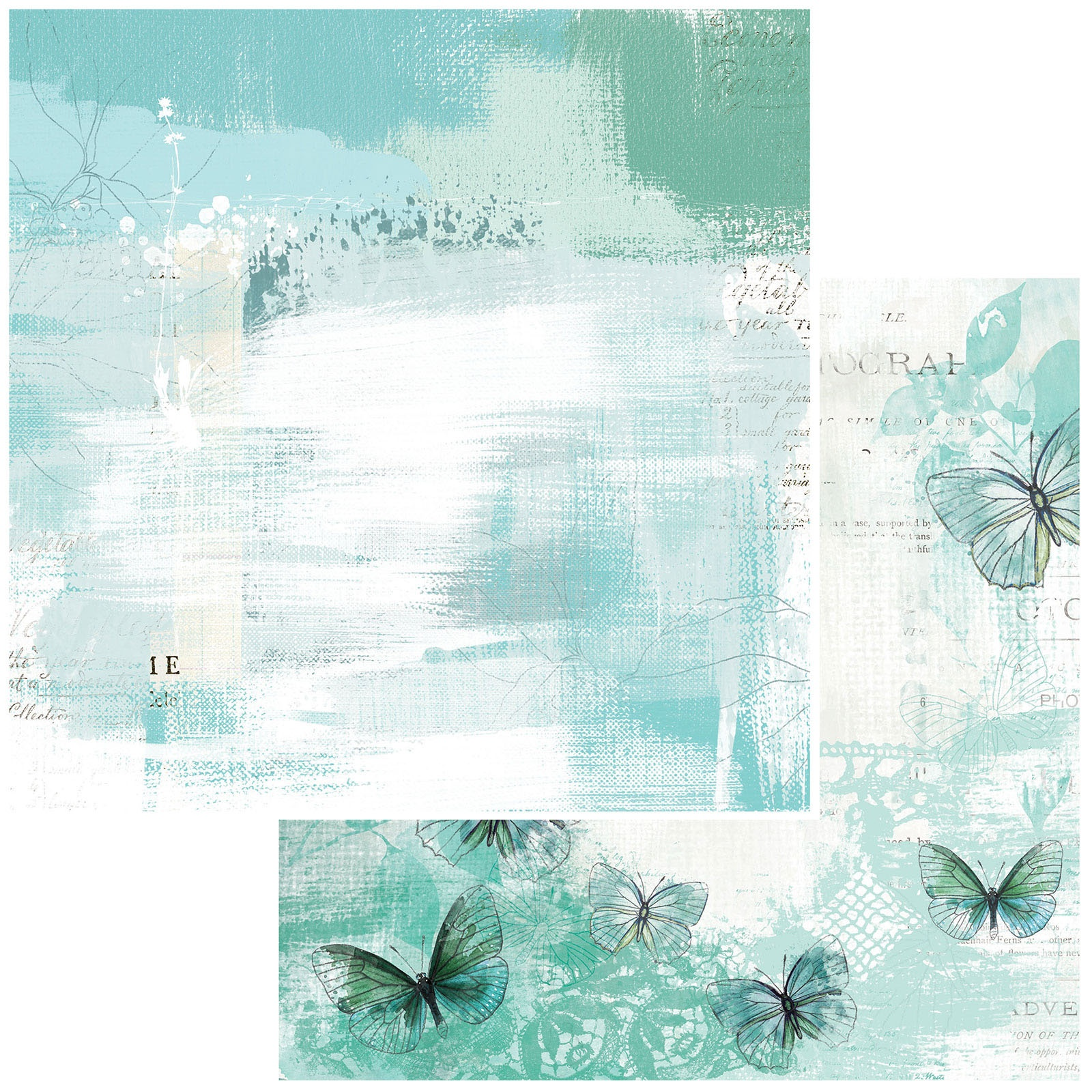 49 And Market - Vintage Artistry Teal - BREEZE - 12x12 Double-Sided Paper