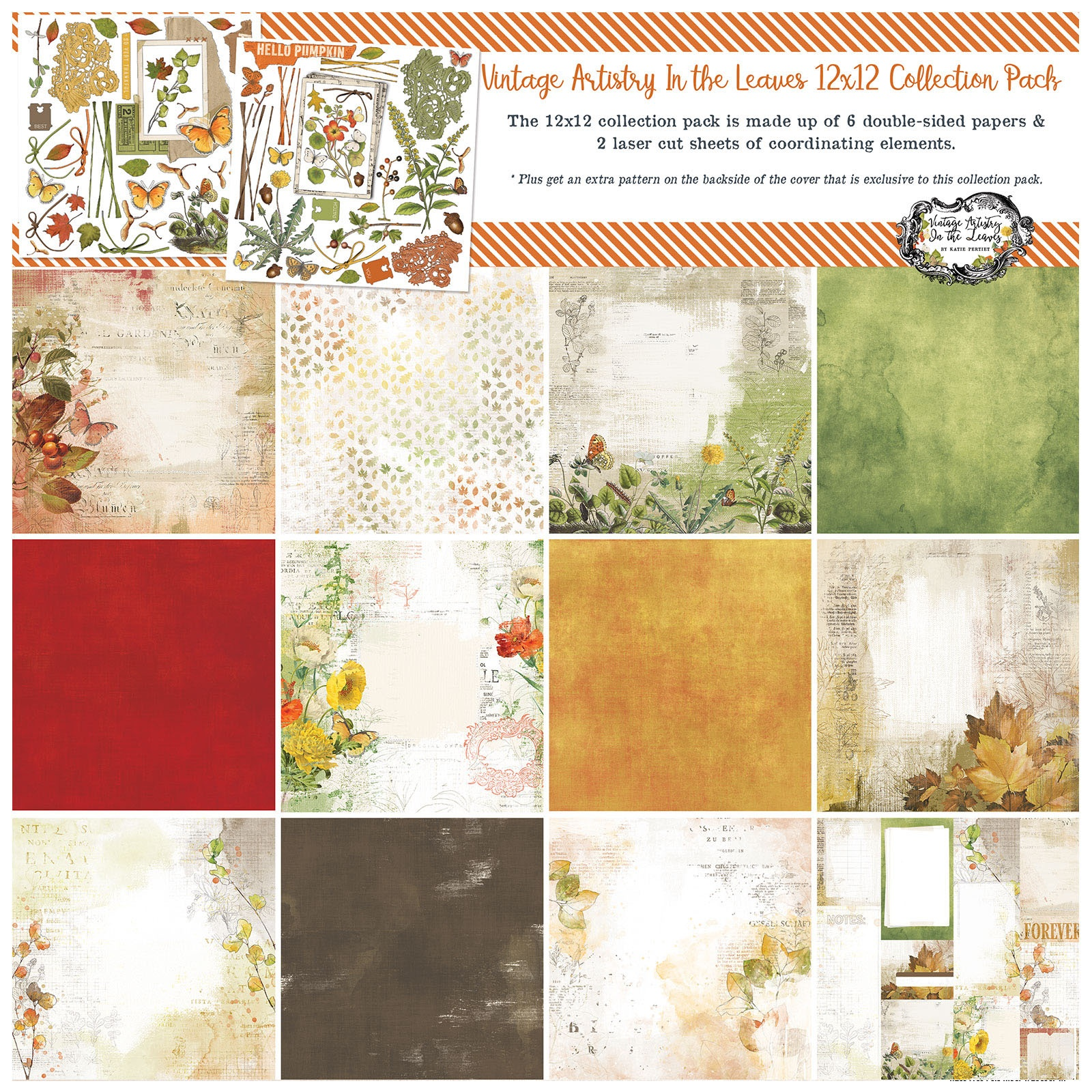 49 And Market Collection Pack 12X12-Vintage Artistry In The Leaves