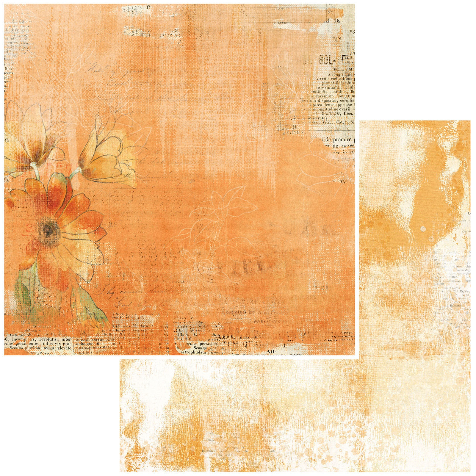 49 And Market - Vintage Artistry Mango - TANGELO MELLOW - 12x12 Double-Sided Paper