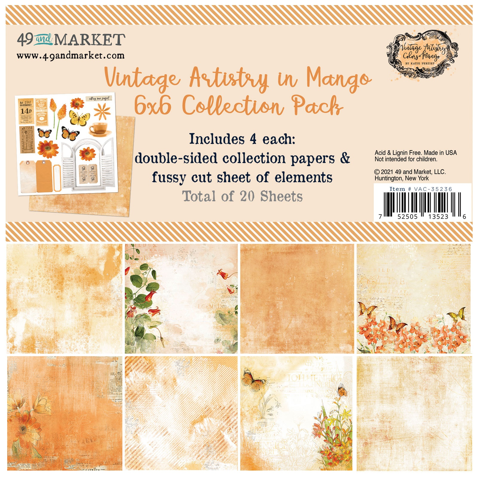 Vintage Artistry In Mango Collection 6x6