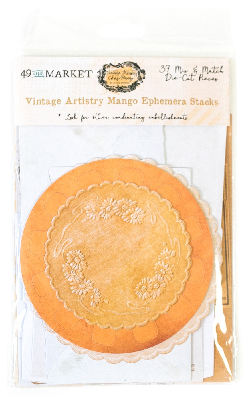 49 And Market - Vintage Artistry Mango Ephemera Stacks