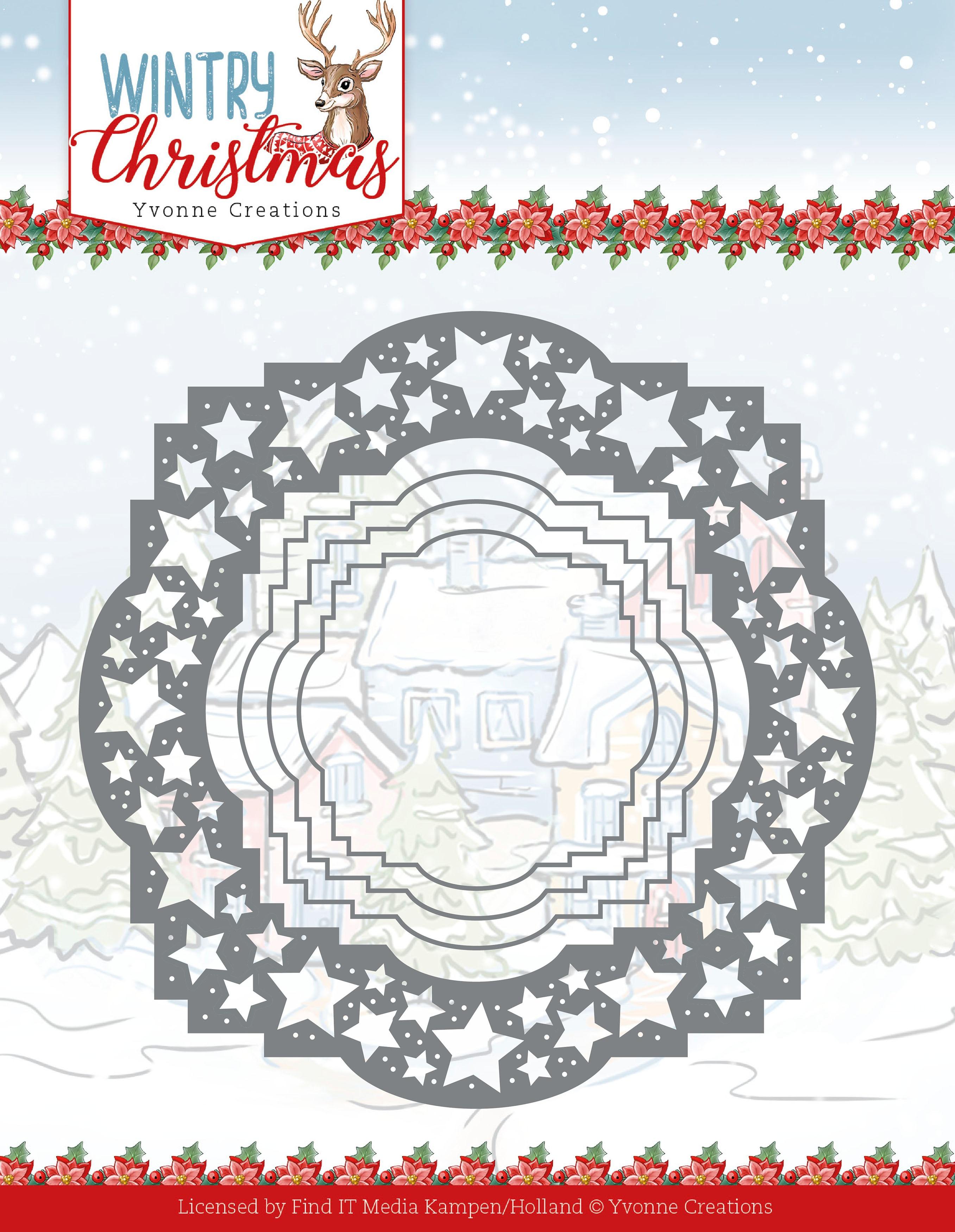 Stars Frame - Wintery Christmas Die