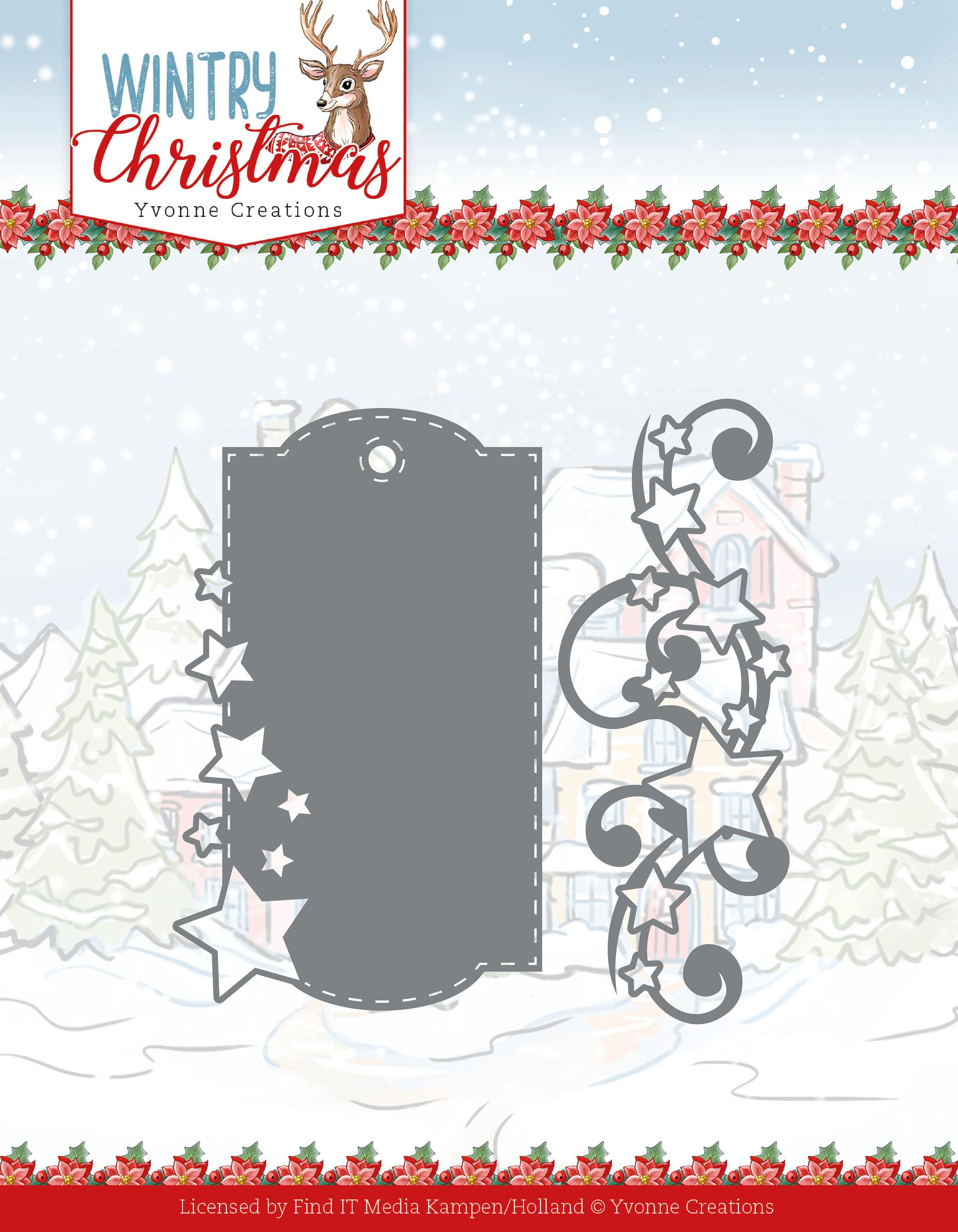 Stars & Swirls - Wintery Christmas Die