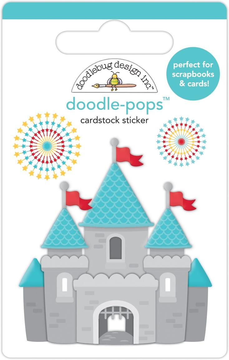 Doodlebug Doodle-Pops 3D Stickers-Adventure Awaits