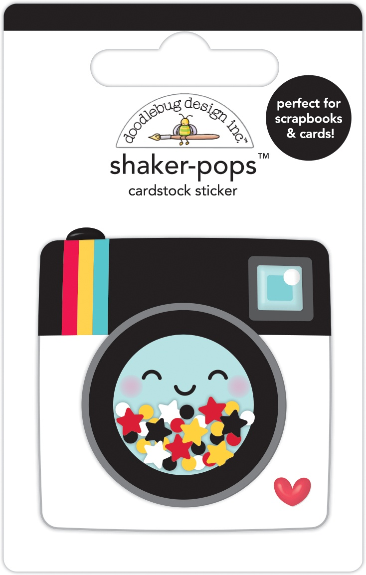 Doodlebug Shaker-Pops 3D Stickers-Magical Memories