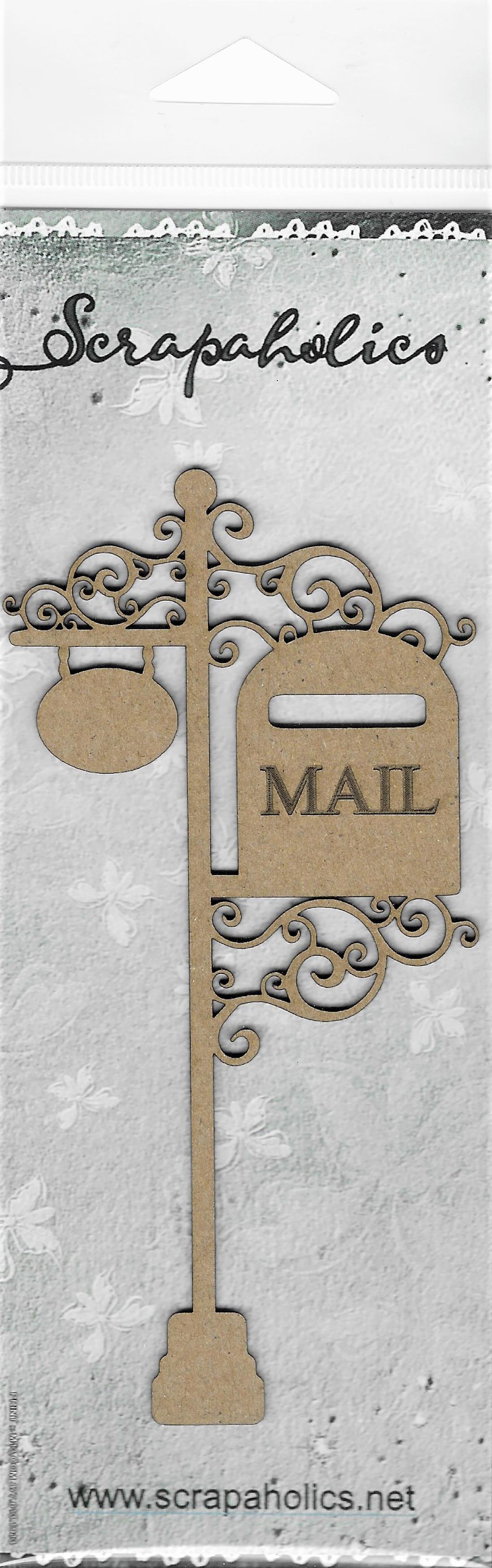 Vintage Mailbox Laser Cut Chipboard