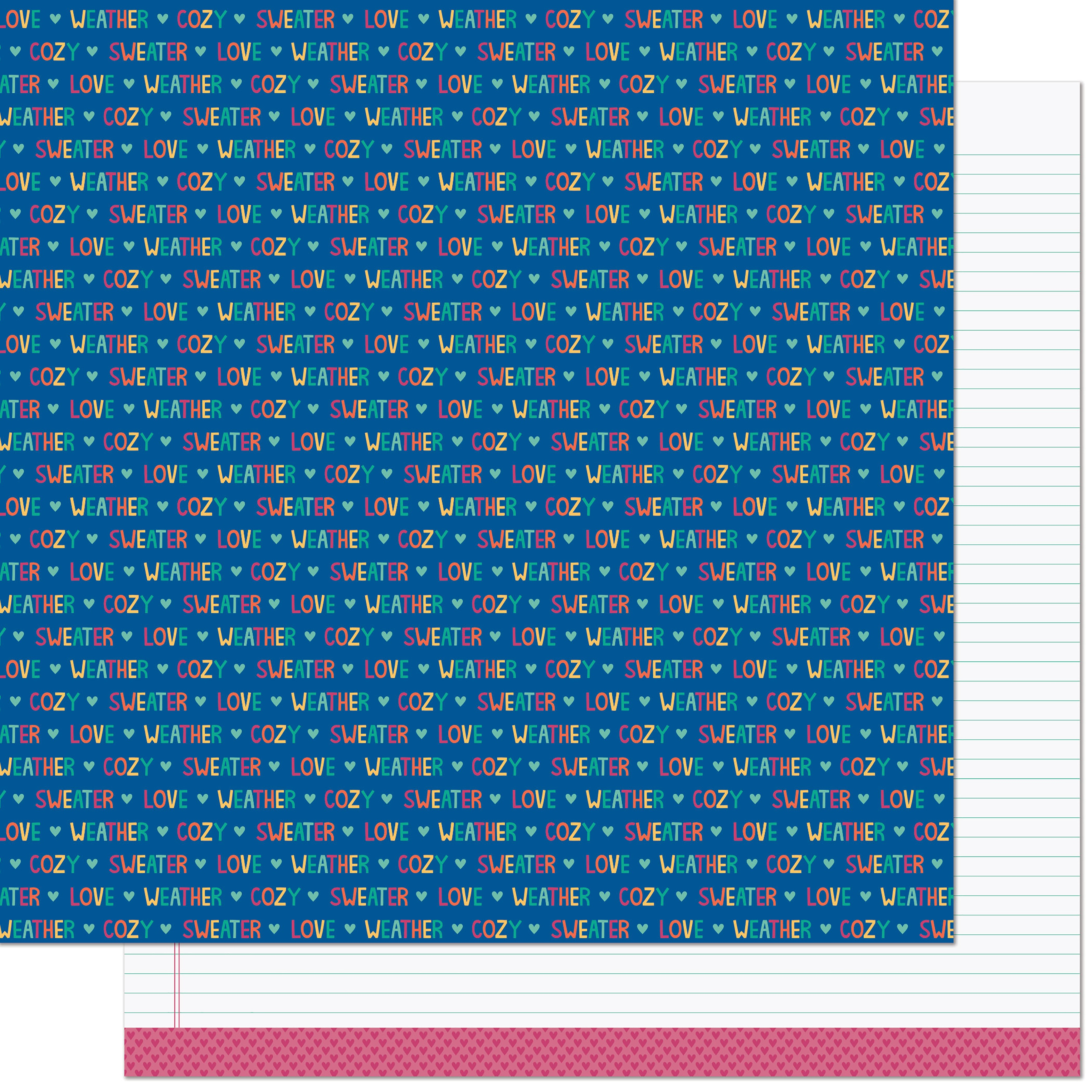 Lawn Fawn - Sweater Weather Remix  - BRISK REMIX - 12x12 Double-Sided Paper
