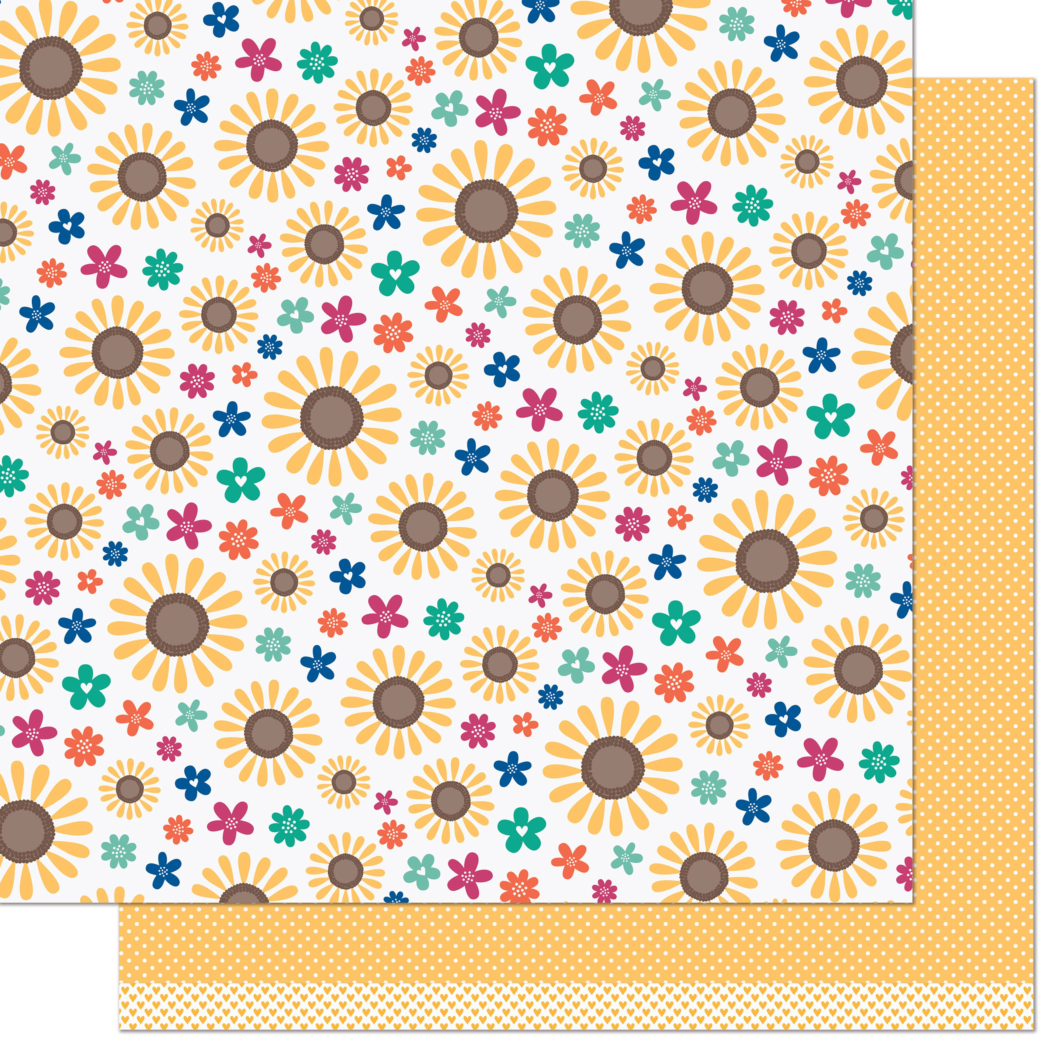 Lawn Fawn - Sweater Weather Remix  - SUNNY REMIX - 12x12 Double-Sided Paper