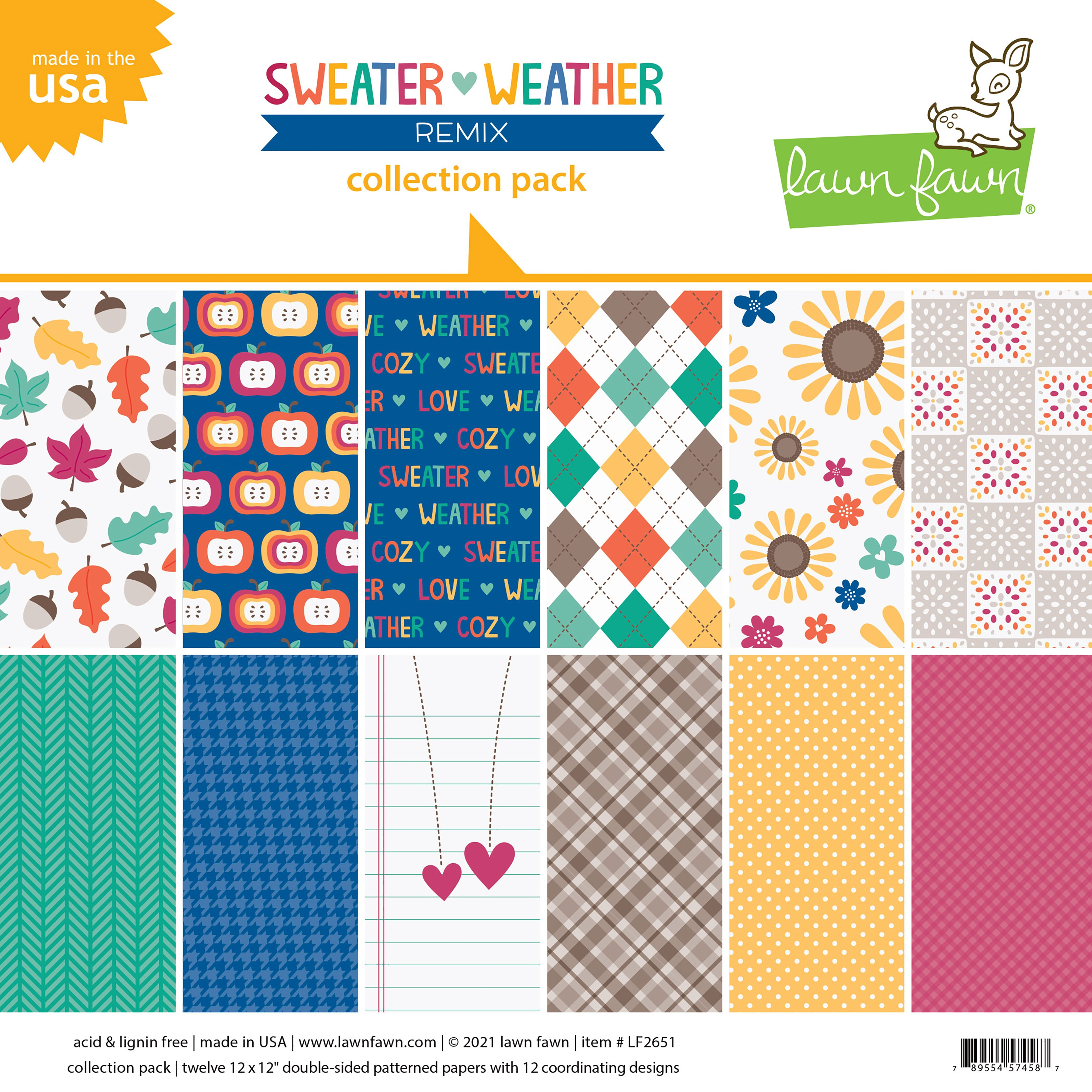 Lawn Fawn Sweater Weather Collection Pack 12X12