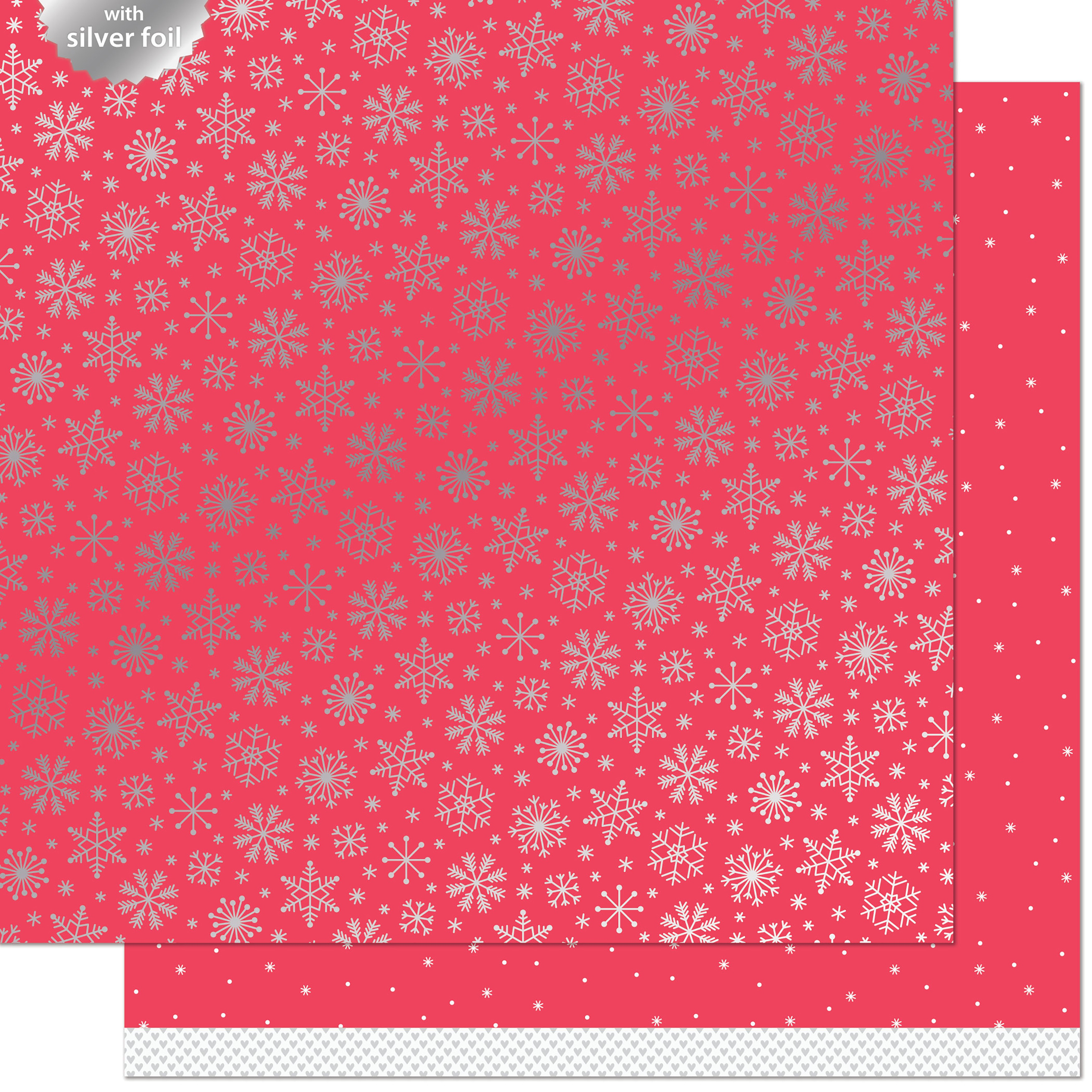 Let It Shine Snowflakes Foiled Dbl-Sided Cardstock 12X12-Shiver