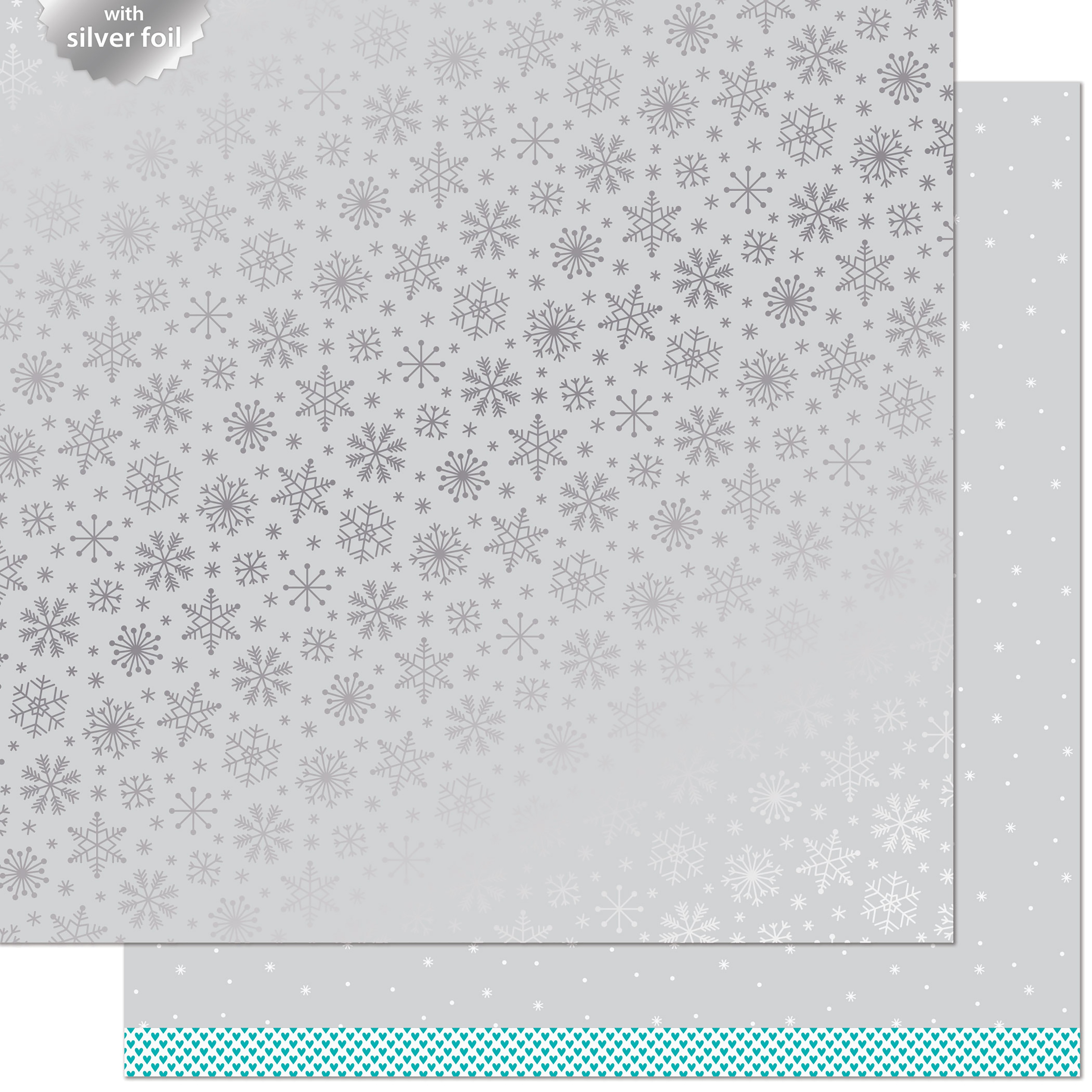 Let It Shine Snowflakes Foiled Cardstock - Brrr