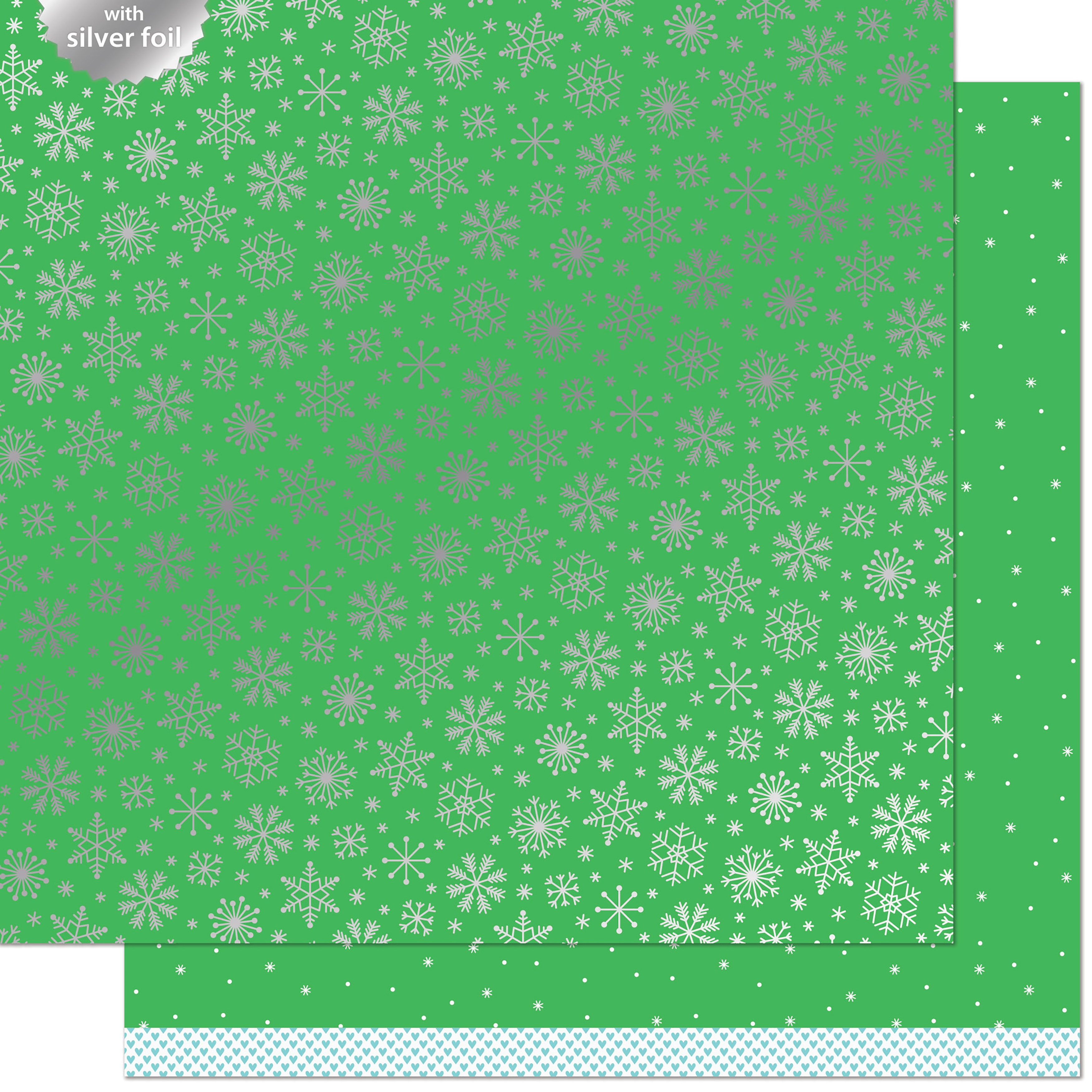 Let It Shine Snowflakes Foiled Cardstock - Glacial