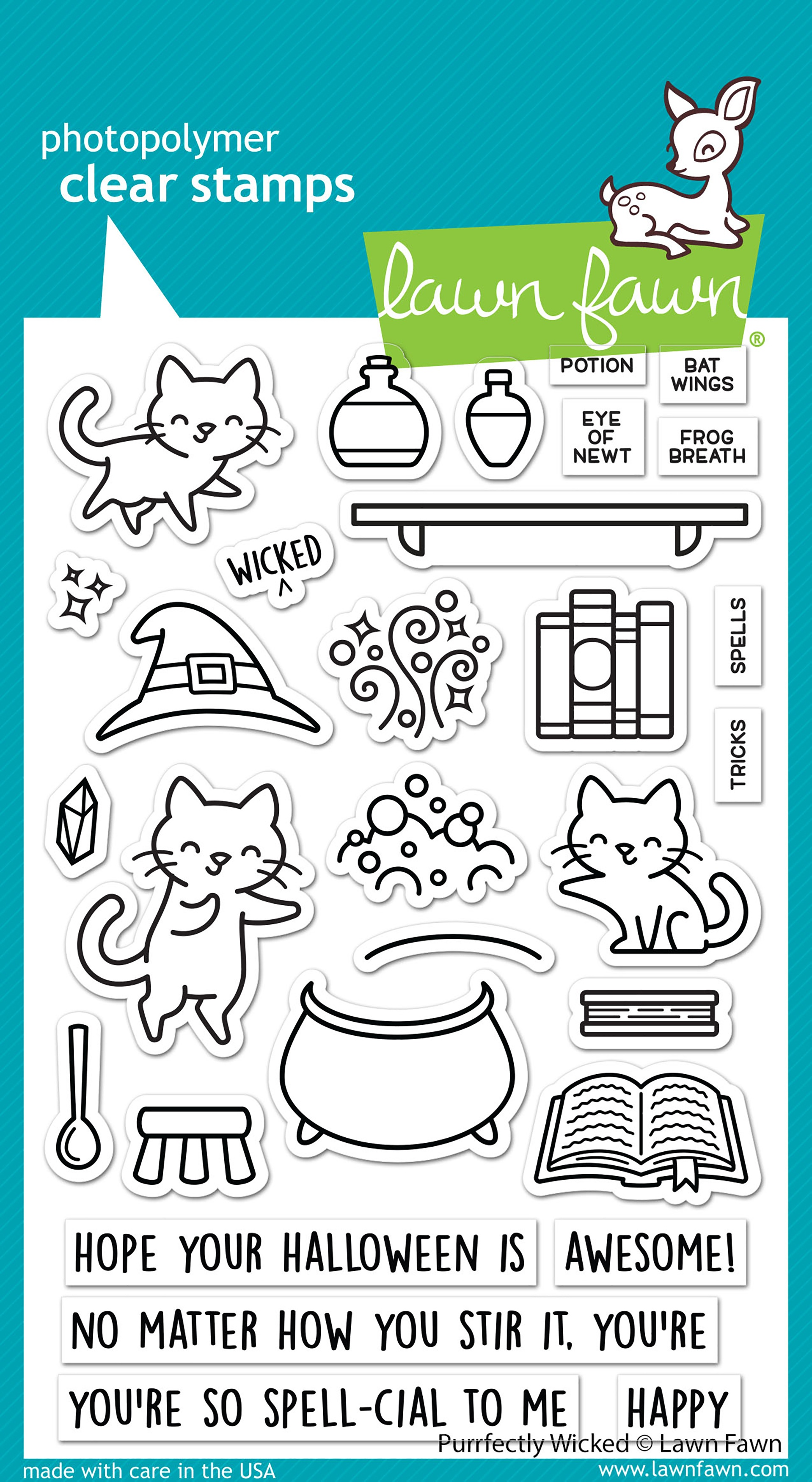 Lawn Fawn Clear Stamps 4X6-Purrfectly Wicked