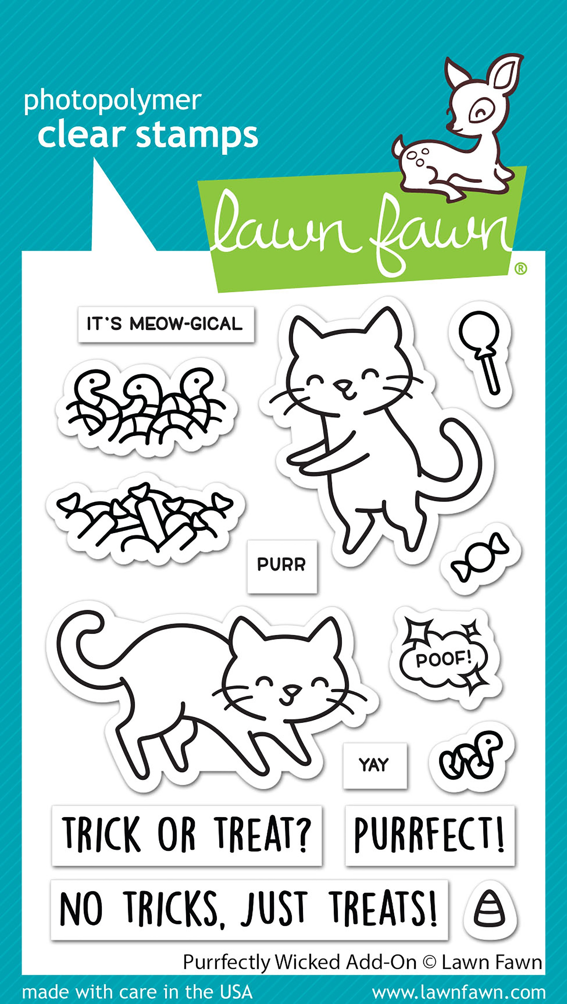 Lawn Fawn - Clear Stamps - Purrfectly Wicked Add-On