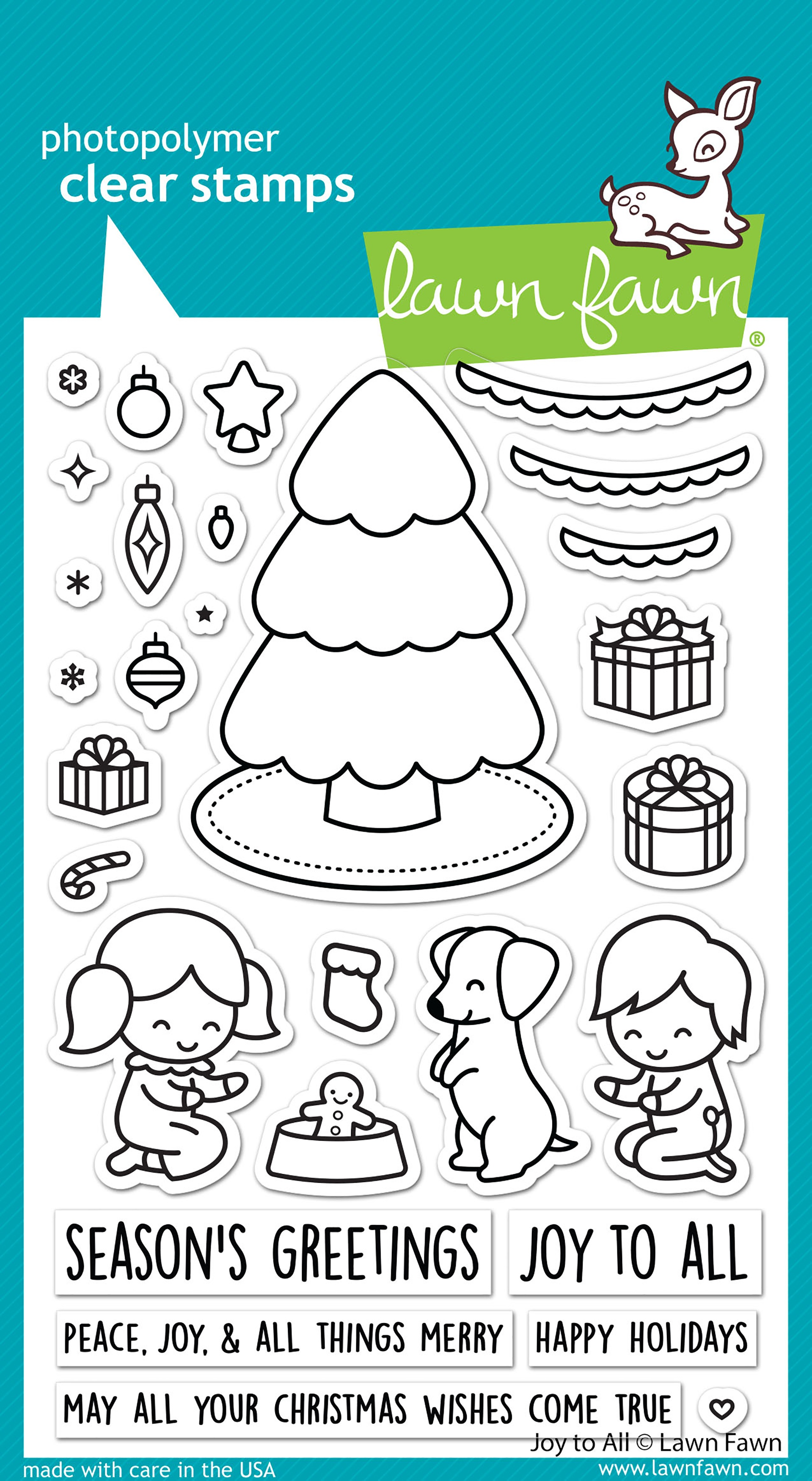 Lawn Fawn - Clear Stamps - Joy To All