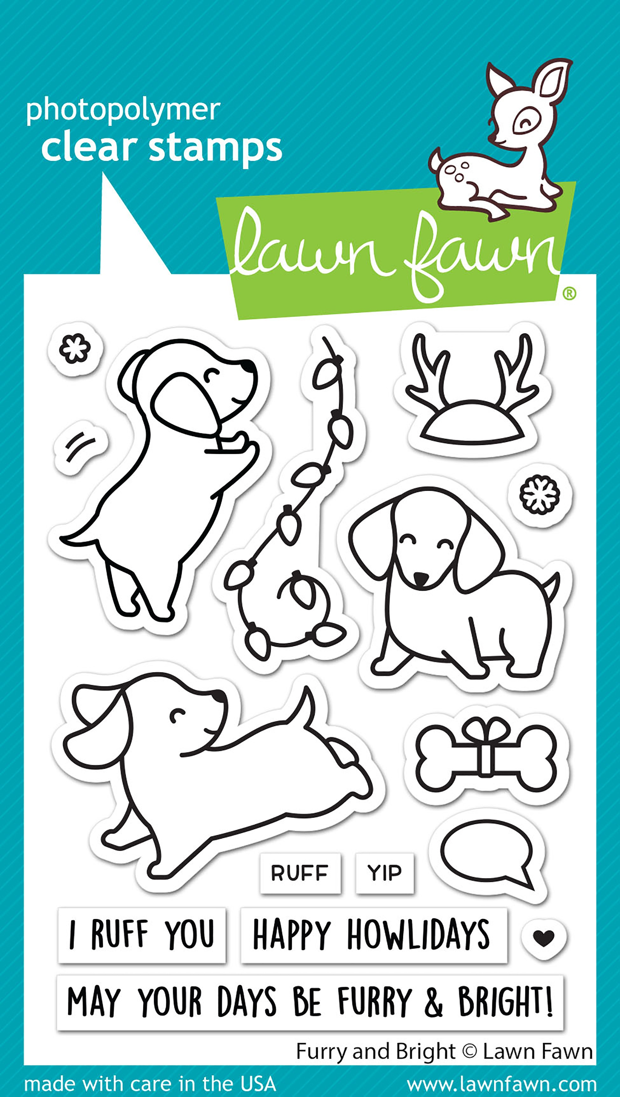 Lawn Fawn Clear Stamps 3X4-Furry & Bright