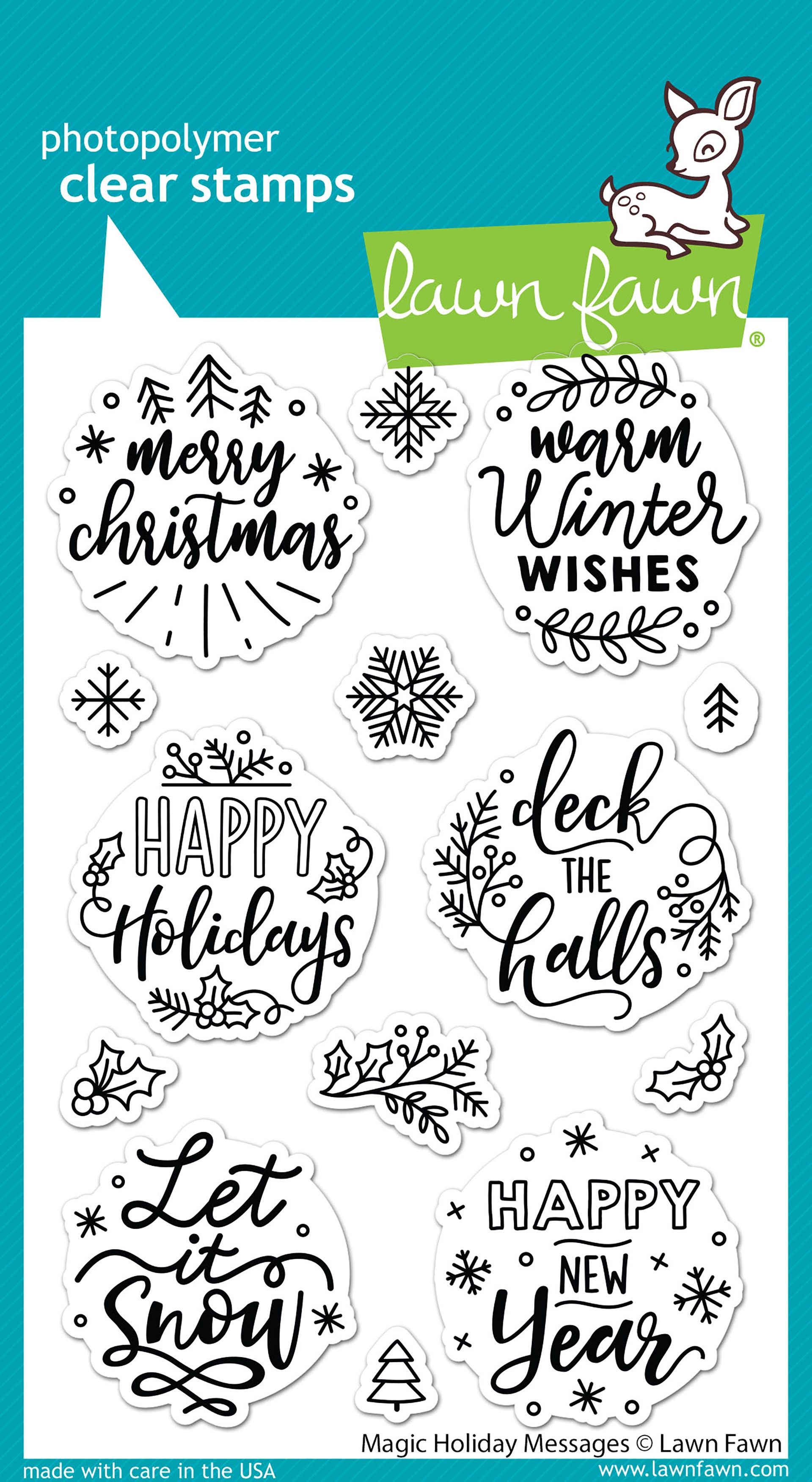 Lawn Fawn Clear Stamps 4X6-Magic Holiday Messages