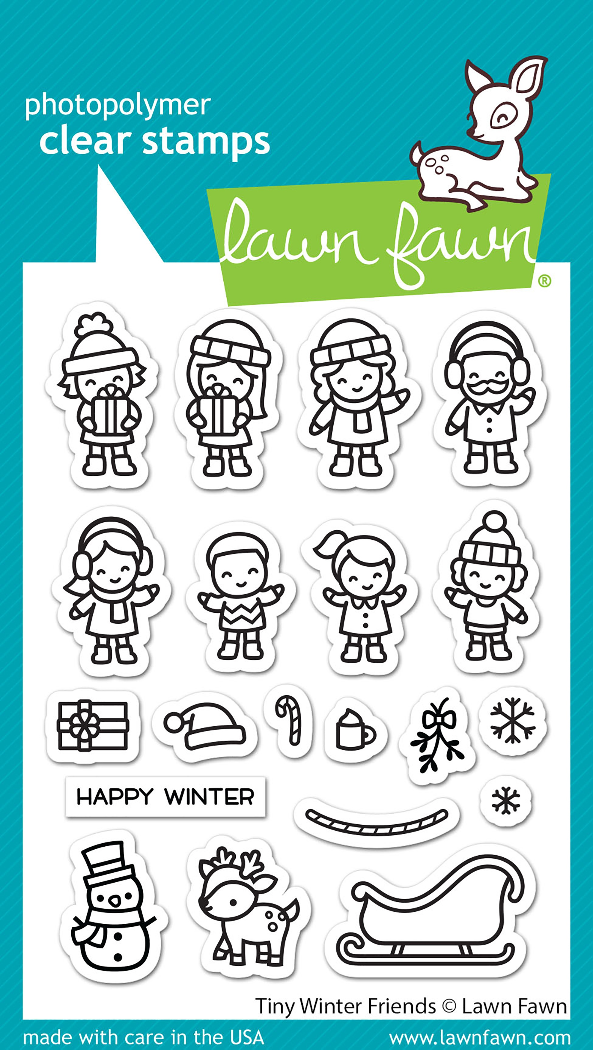 Lawn Fawn Clear Stamps 3X4-Tiny Winter Friends