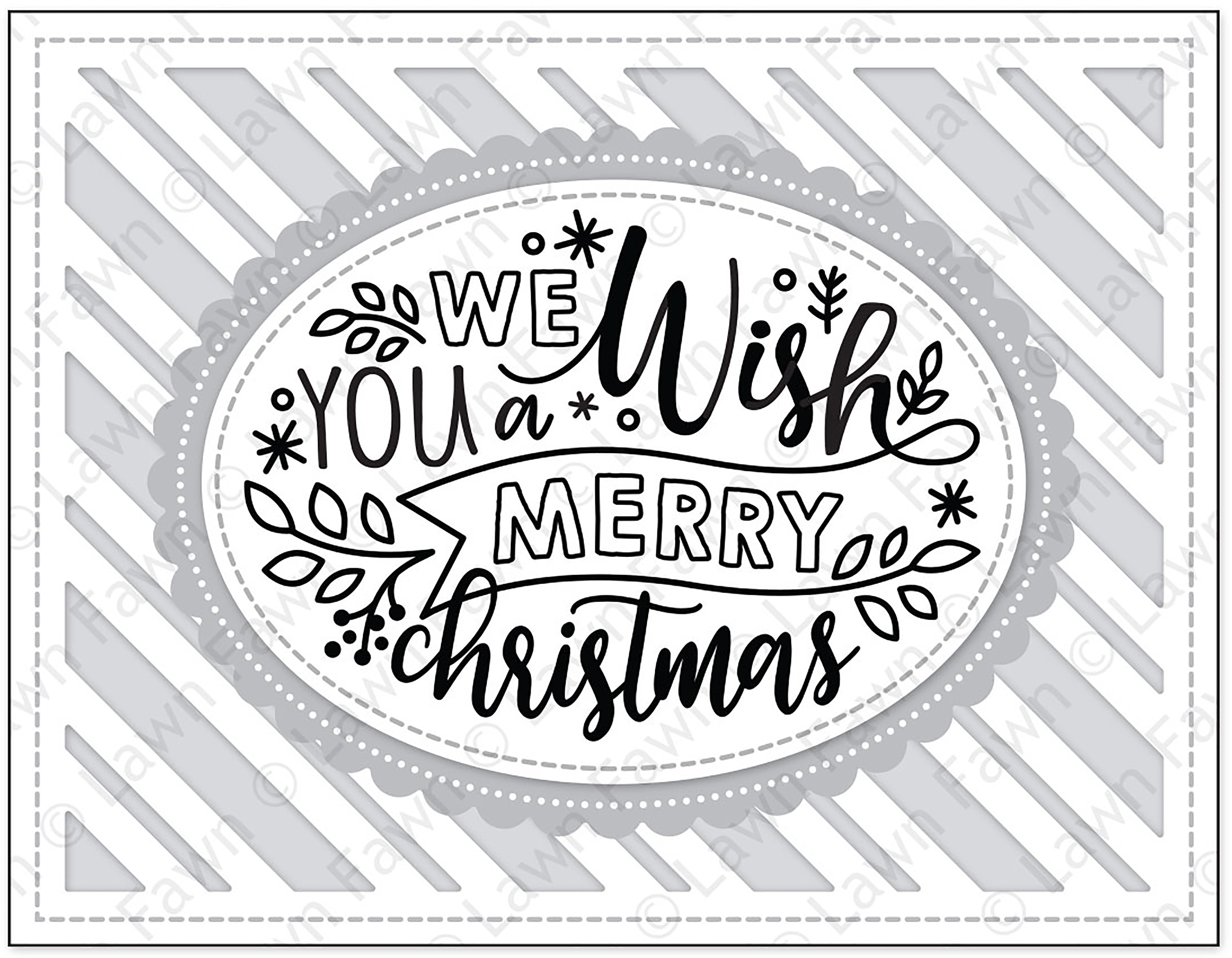 Lawn Fawn Clear Stamps 4X6-Giant Holiday Messages