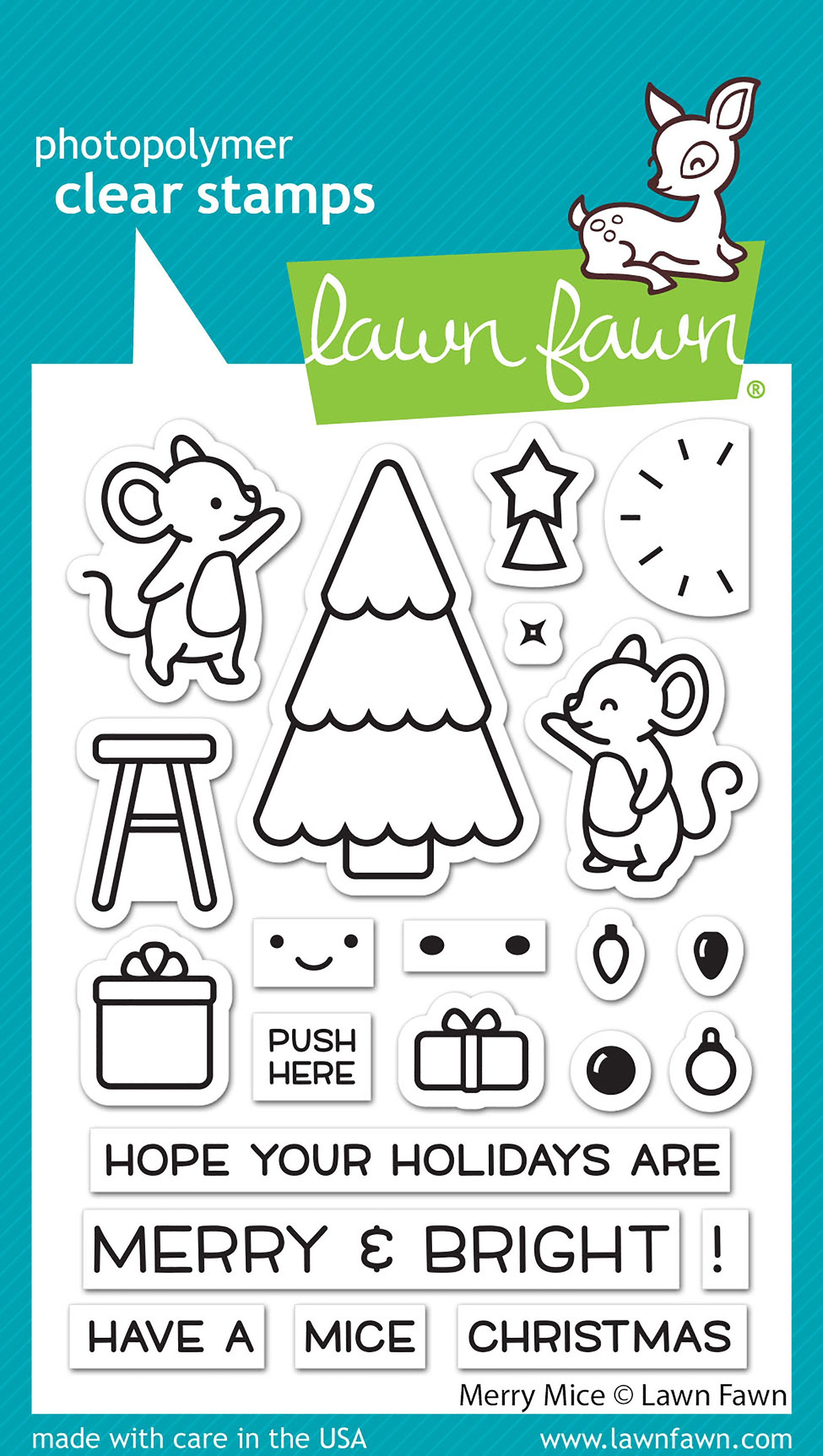 Lawn Fawn Clear Stamps 3X4-Merry Mice