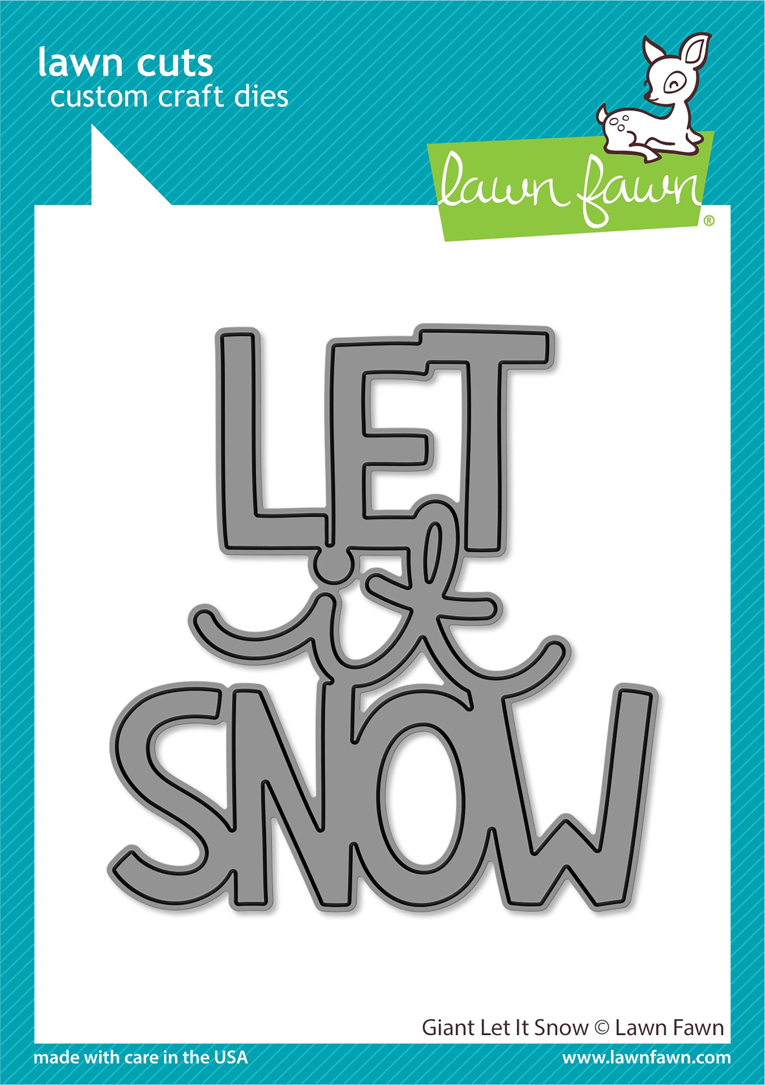 Lawn Cuts Custom Craft Die-Giant Let It Snow
