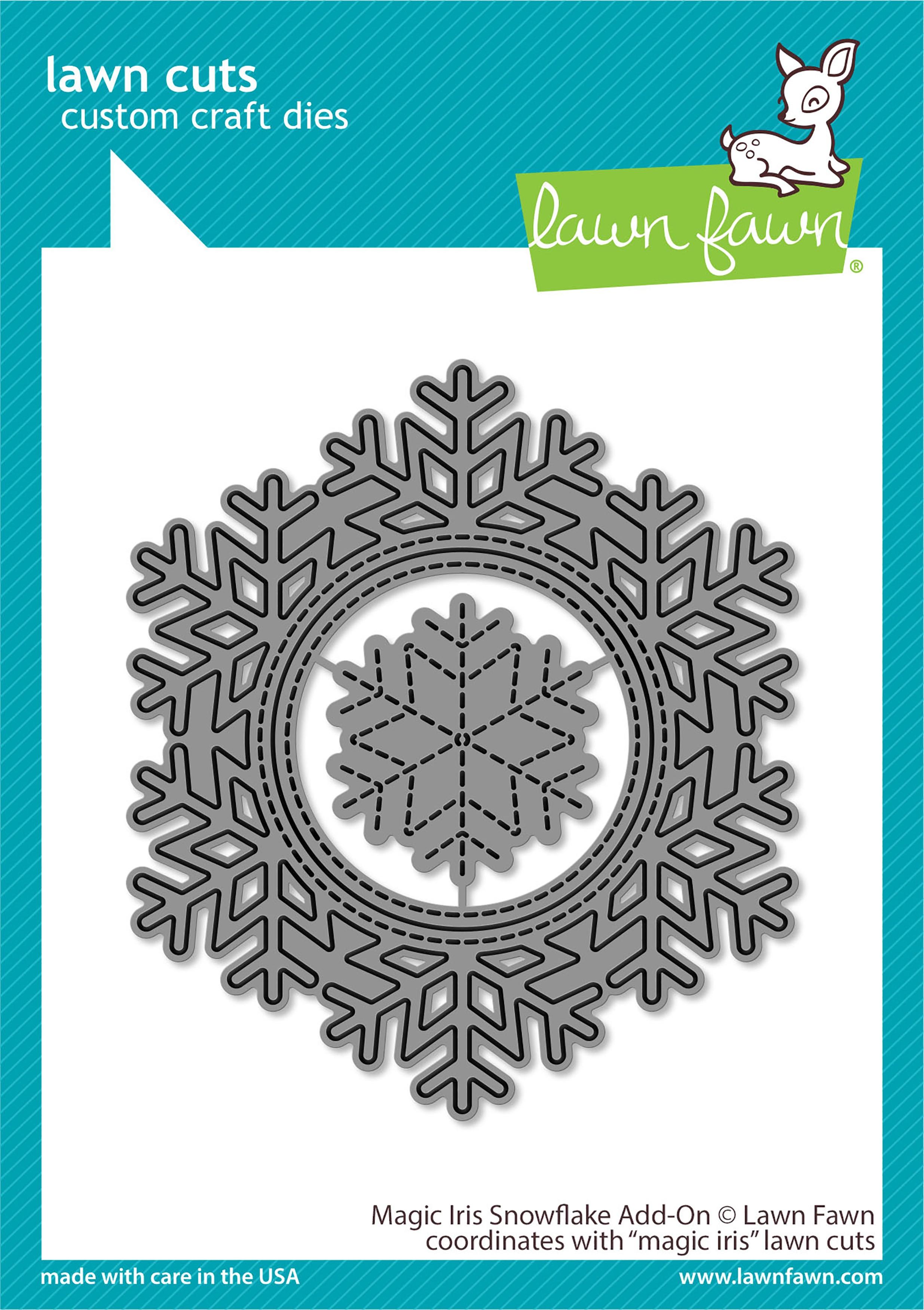 Lawn Cuts Custom Craft Die-Magic Iris Snowflake Add-On