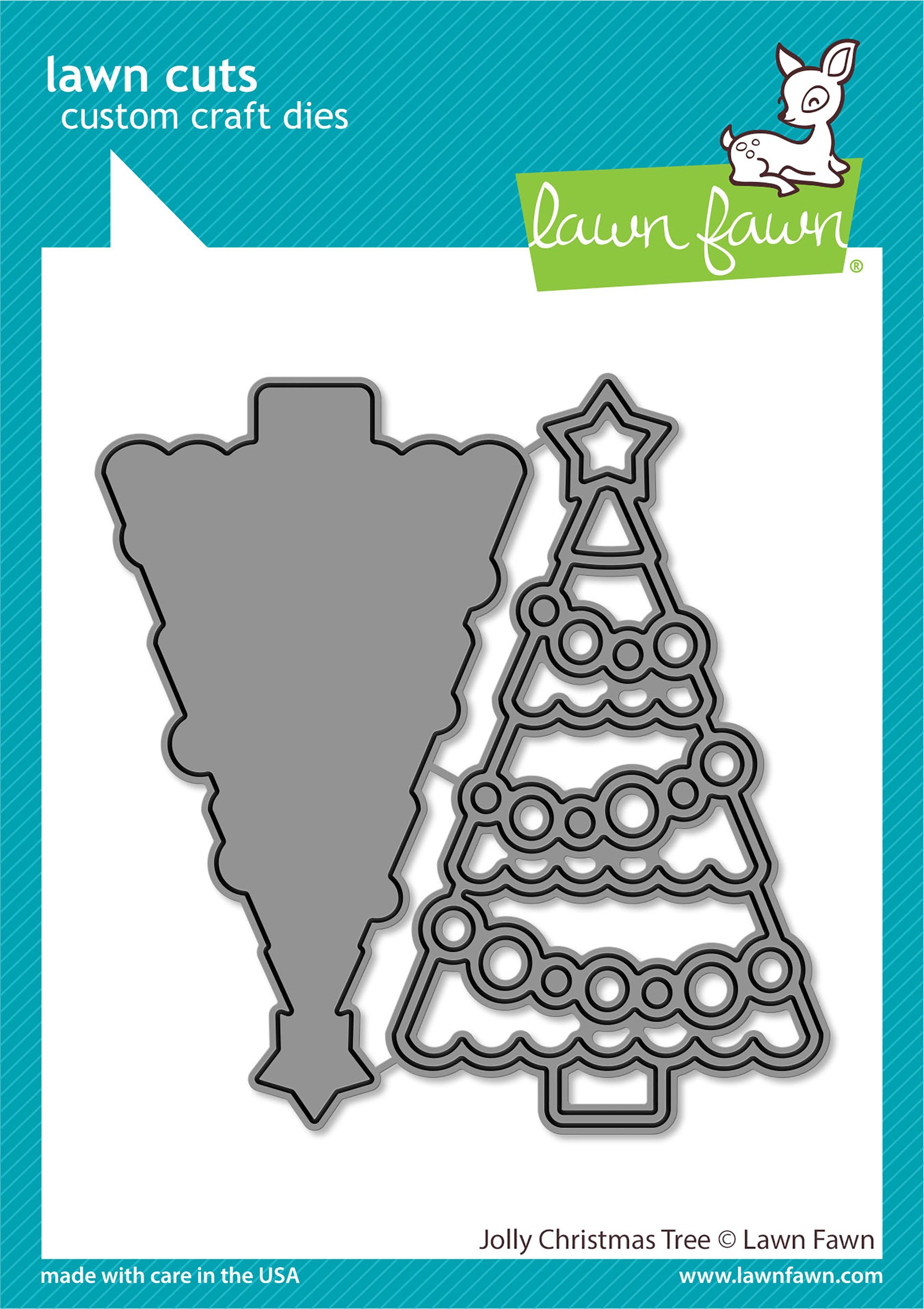 Lawn Cuts Custom Craft Die-Jolly Christmas Tree
