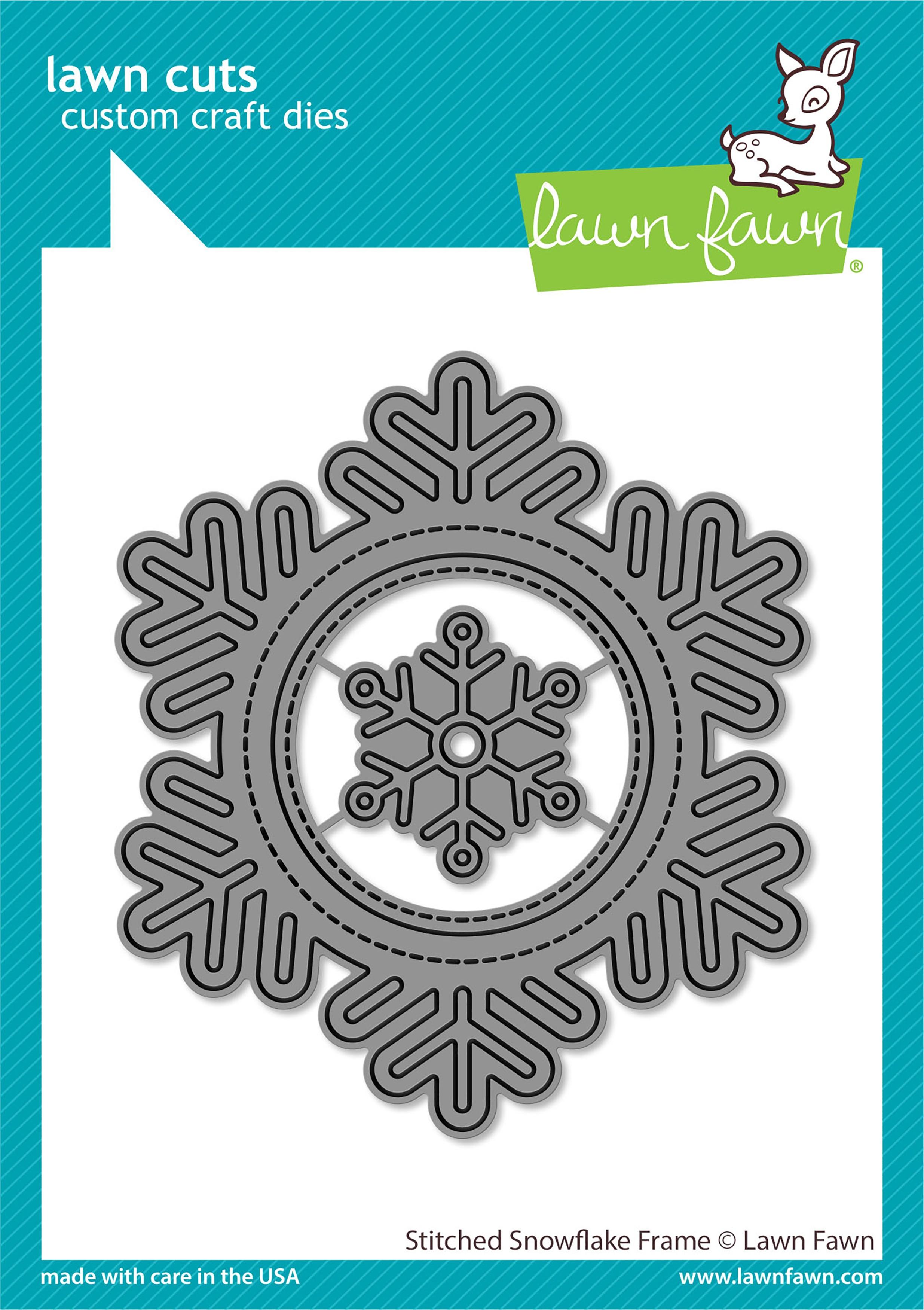 Lawn Cuts Custom Craft Die-Stitched Snowflake Frame