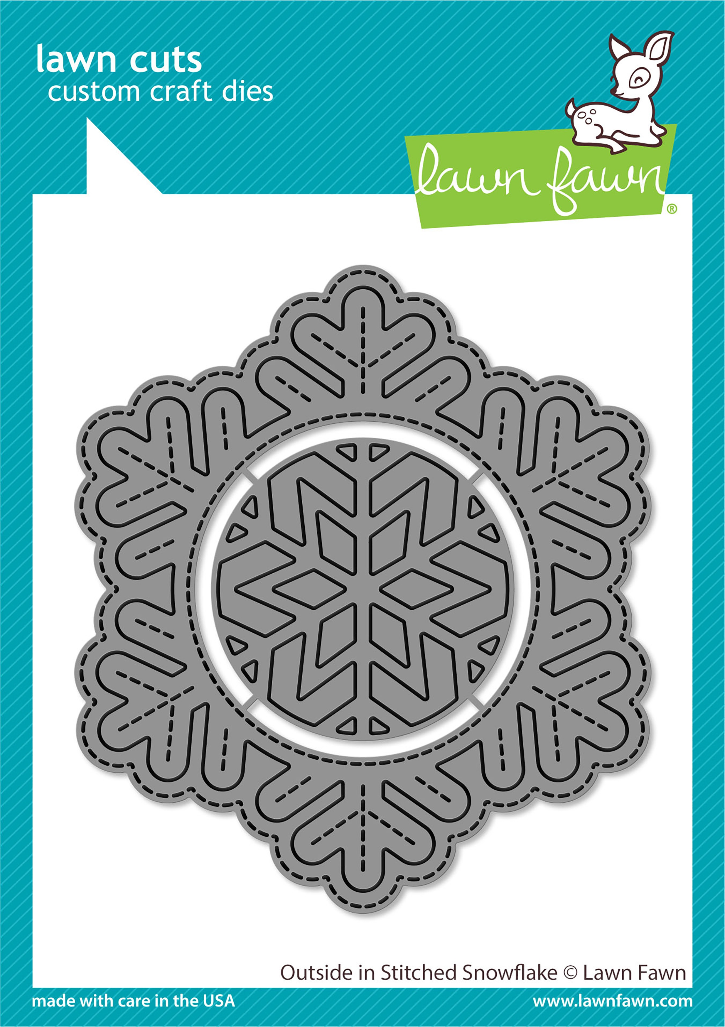 Lawn Cuts Custom Craft Die-Outside In Stitched Snowflake