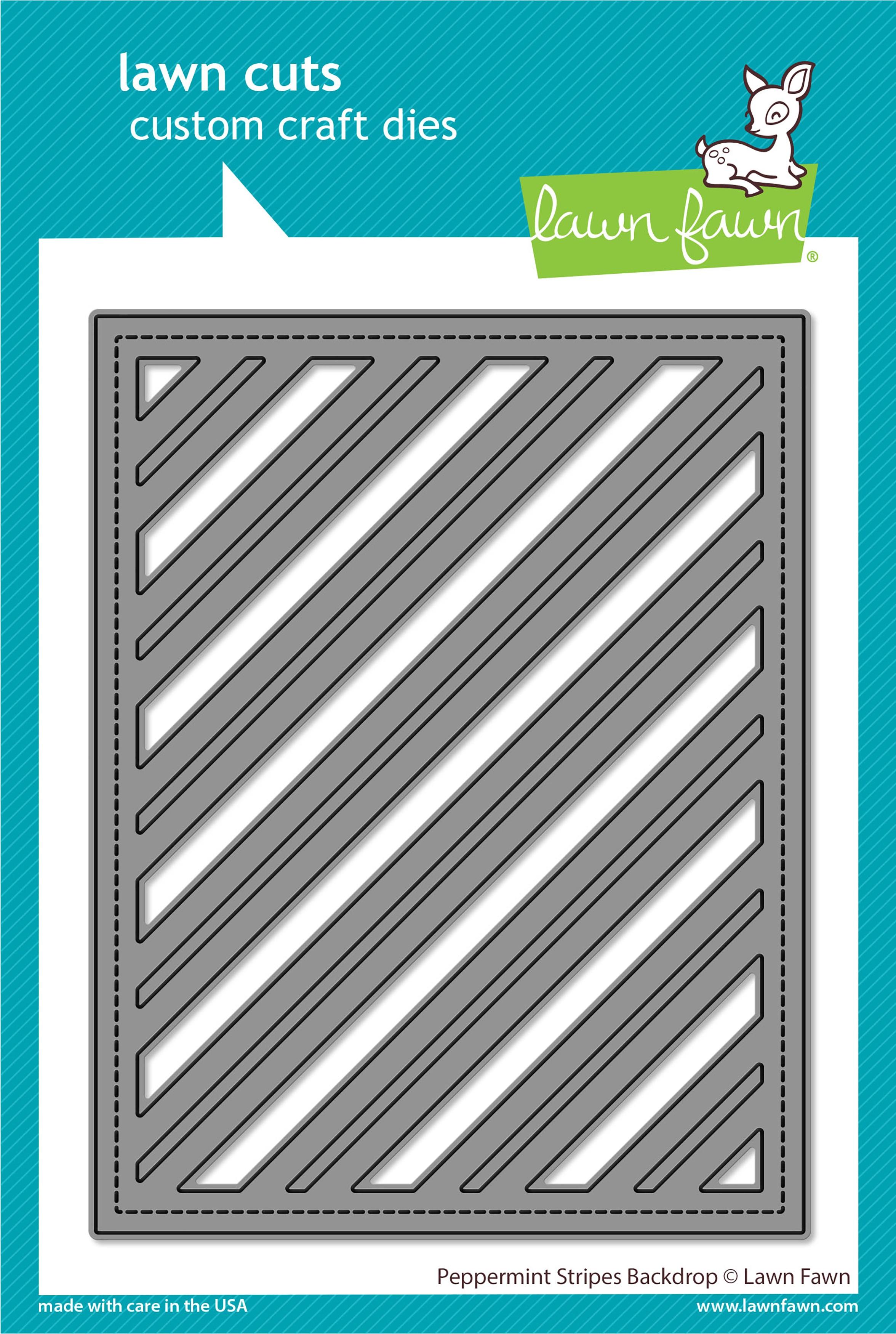 Lawn Cuts Custom Craft Die-Peppermint Stripes Backdrop