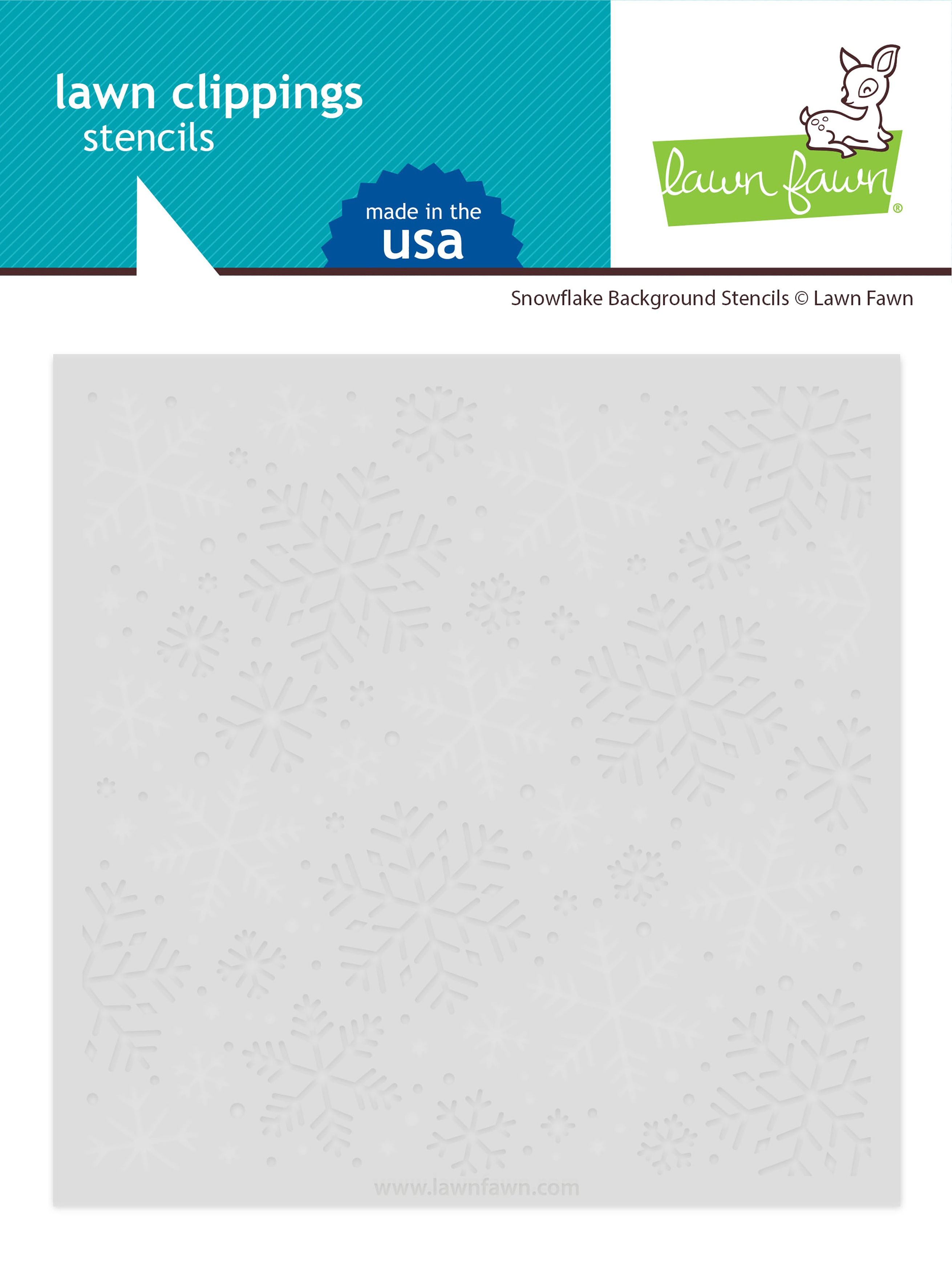 Lawn Clippings Stencils-Snowflake Background