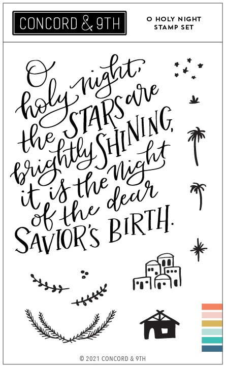 Concord & 9th Clear Stamps 4X6-O Holy Night
