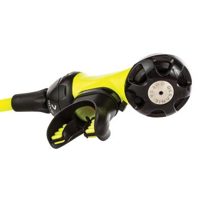 Oceanic OMEGA 3 SECOND STAGE SWIV CONNECT NEON YELLOW WITH HOSE