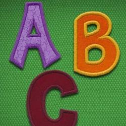 Cutie Applique Alphabet CD