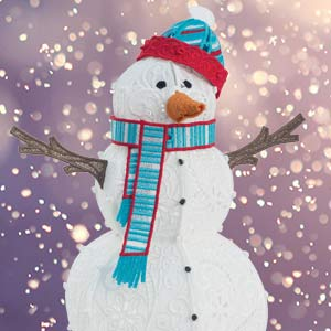 Freestanding Lace Snowman 2 USB