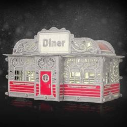 Freestanding Christmas Village Diner CD