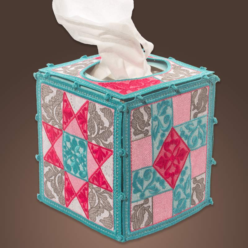 Freestanding Quilter's Tissue Box