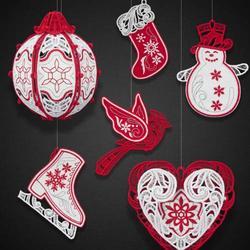 Winter Wonderland Ornaments CD, 28 Files 20 Designs/OESD