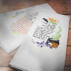 Halloween Recipe Towels CD Tutorial, 3 Designs/OESD
