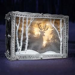 Freestanding Winter Scene Light Box USB