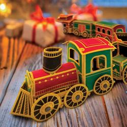Freestanding Holiday Train Set