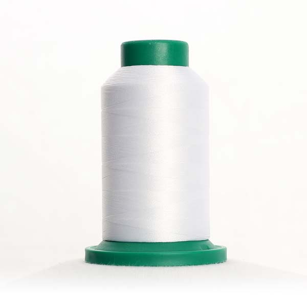 0010 Silky White Isacord Thread