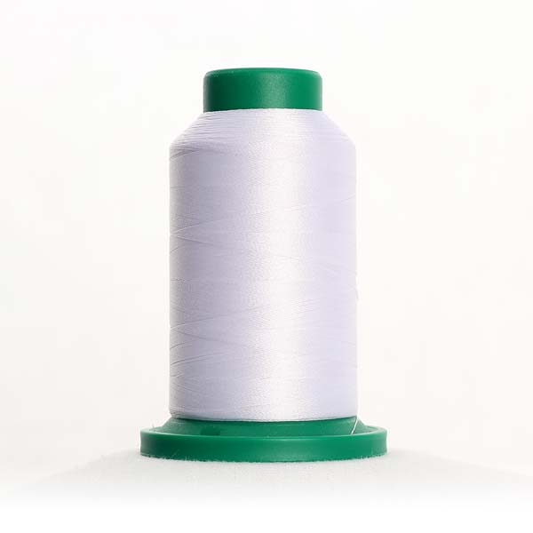 0017 Paper White Polyester Thread Isacord 1094yd