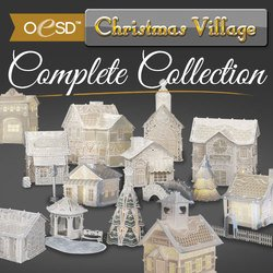 OESD Freestanding Christmas Village Complete Collection