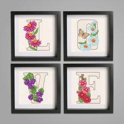 Floral Alphabet CD, 26 Designs/OESD, Krista Hamrick
